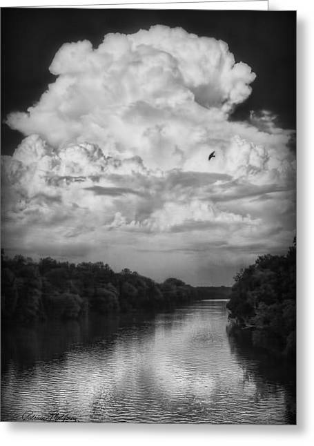 Clouds Over The Coosa River Greeting Card