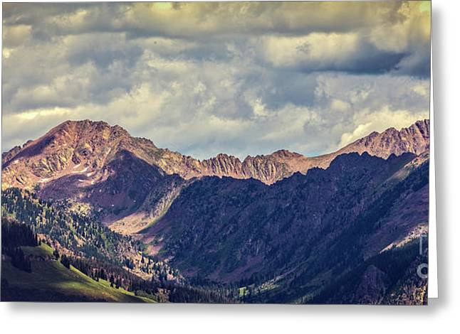Clouds Over The Gore Range Greeting Card