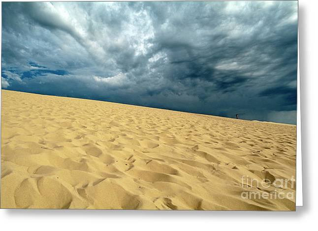Clouds Over The Great Dune Of Pyla On The Bassin D'arcachon Greeting Card