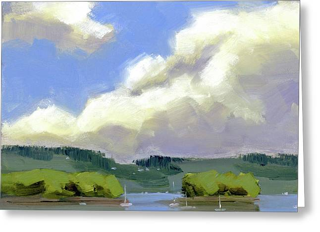Clouds Over The Islands Greeting Card by Mary Byrom