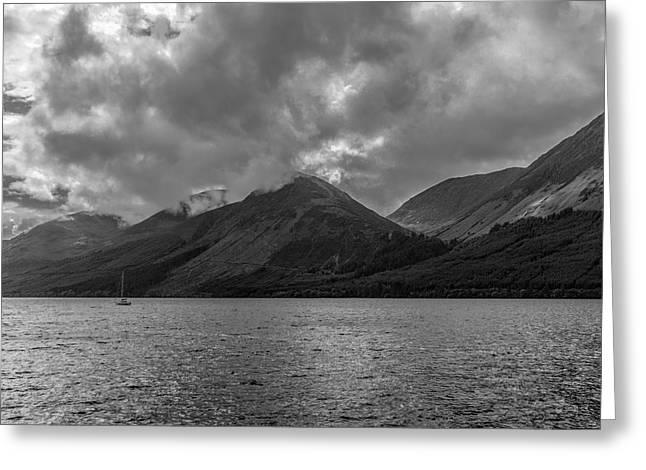 Clouds Over Loch Lochy, Scotland Greeting Card