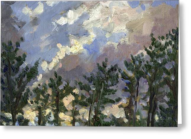 Clouds Over The Pines Tanglewood Greeting Card by Thor Wickstrom