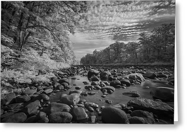Clouds Over The River Rocks Greeting Card