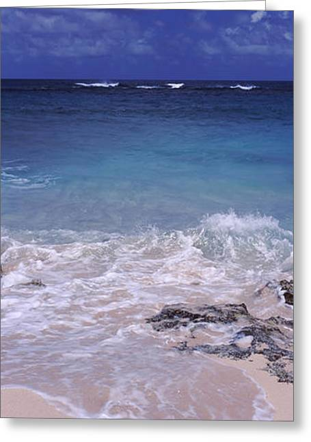 Clouds Over The Sea, Island Harbour Greeting Card by Panoramic Images