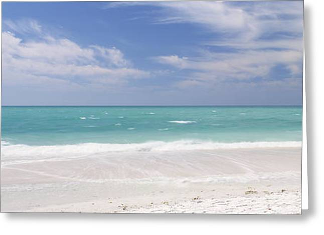 Clouds Over The Sea, Lido Beach, St Greeting Card