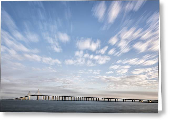Clouds Over The Skyway Greeting Card by Jon Glaser