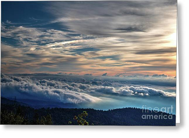 Greeting Card featuring the photograph Clouds Over The Smoky's by Douglas Stucky