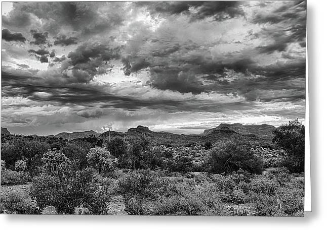 Greeting Card featuring the photograph Clouds Over The Superstitions by Monte Stevens