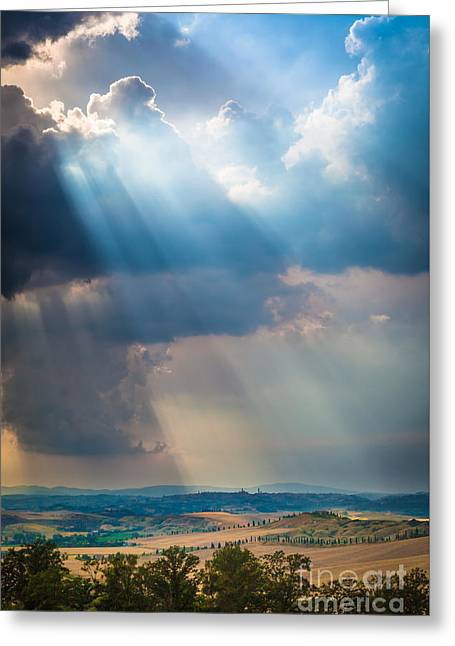 Clouds Over Tuscany Greeting Card by Inge Johnsson