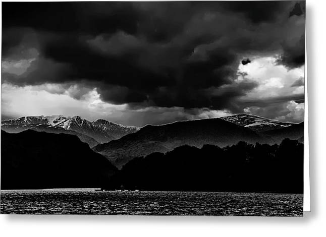 Clouds Over Ulswater Lake District Greeting Card