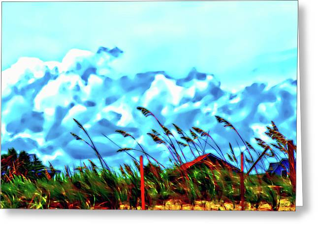 Clouds Over Vilano Beach Greeting Card