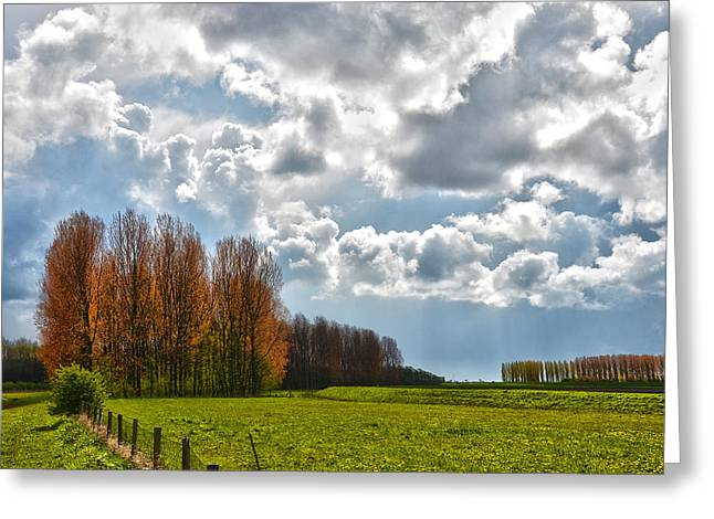 Clouds Over Voorne Greeting Card
