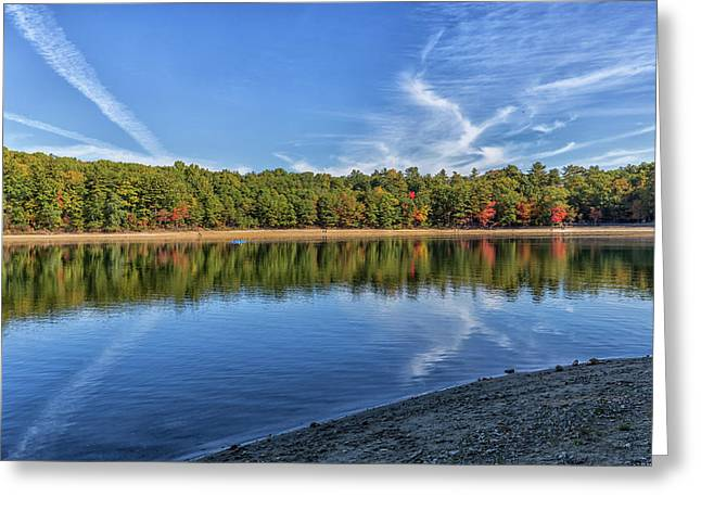 Clouds Over Walden Pond Greeting Card by Brian MacLean