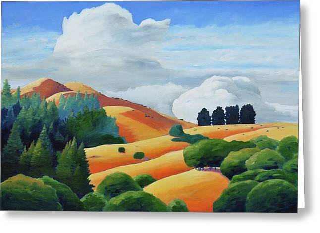 Clouds Over Windy Hill Greeting Card by Gary Coleman