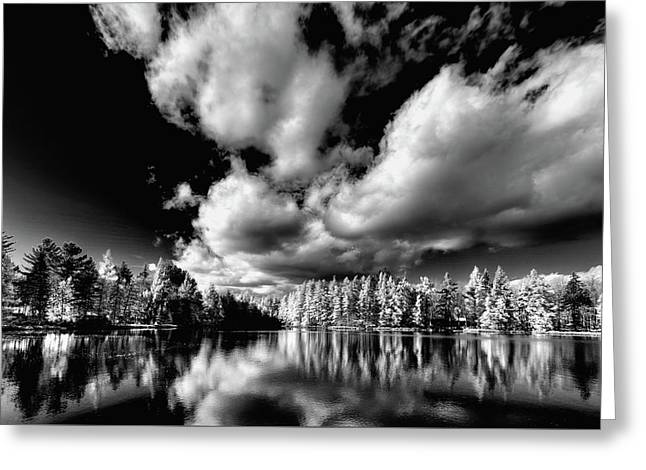 Clouds Over Woodcraft Greeting Card by David Patterson