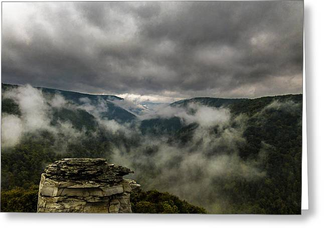 Clouds Rising At Lindy Point Greeting Card