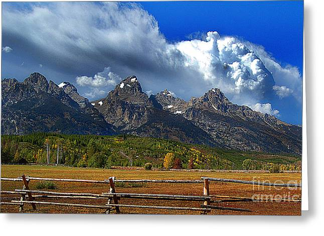 Clouds Rising Greeting Card by Diane E Berry