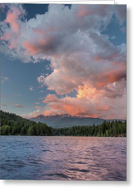 Clouds Rising From Shasta Greeting Card