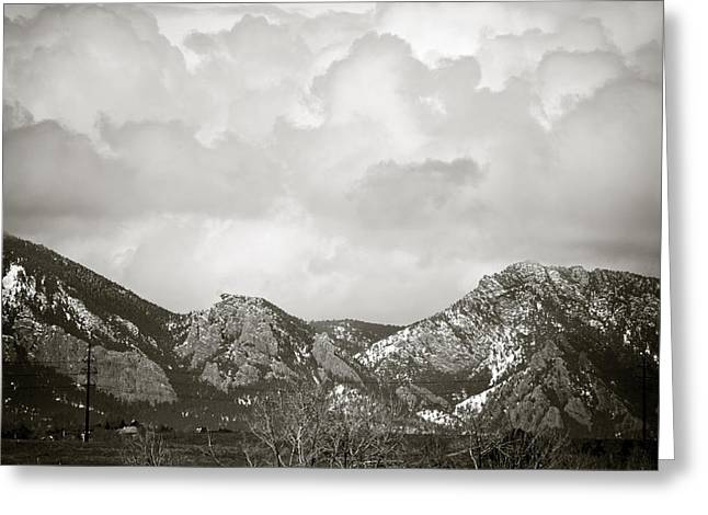 Clouds Rolling In 2 Greeting Card by Marilyn Hunt