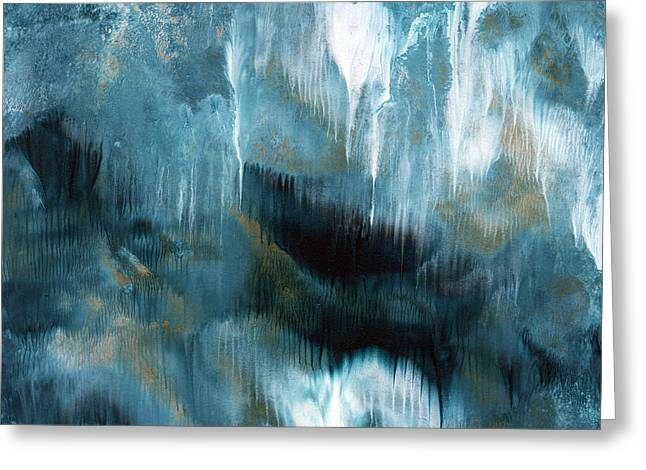 Clouds Rolling In- Abstract Art By Linda Woods Greeting Card