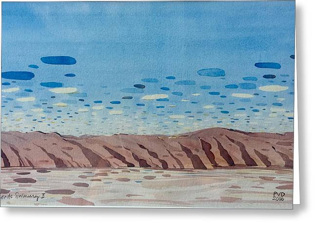Clouds Swimming Greeting Card by Vaughan Davies