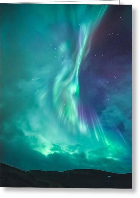 Clouds Vs Aurorae Greeting Card