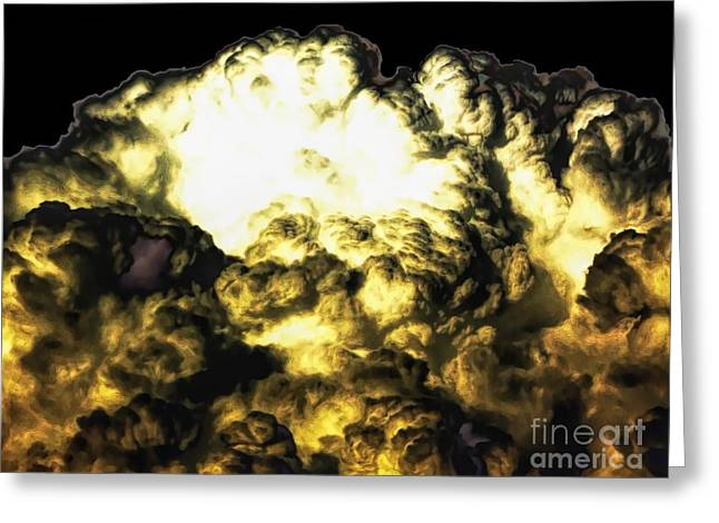 Clouds With Soft Dark Low Contrasts Effects Greeting Card