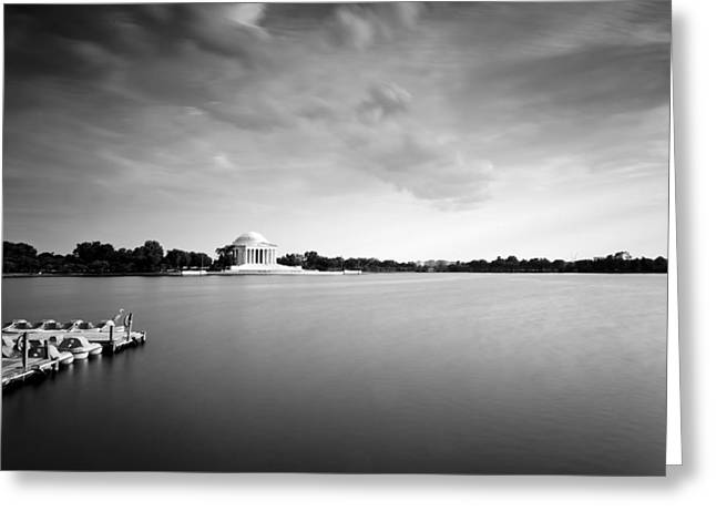 cloudscape and the Tidal Basin Greeting Card by Edward Kreis