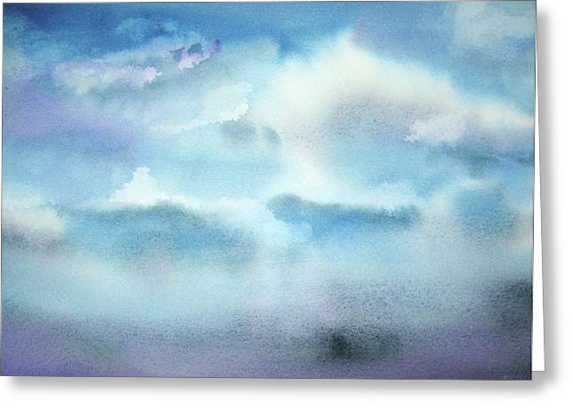 Greeting Card featuring the painting Cloudscape by Ellen Levinson