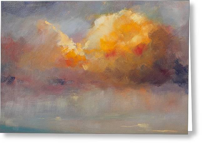 Cloudscape Greeting Card by Nancy Merkle