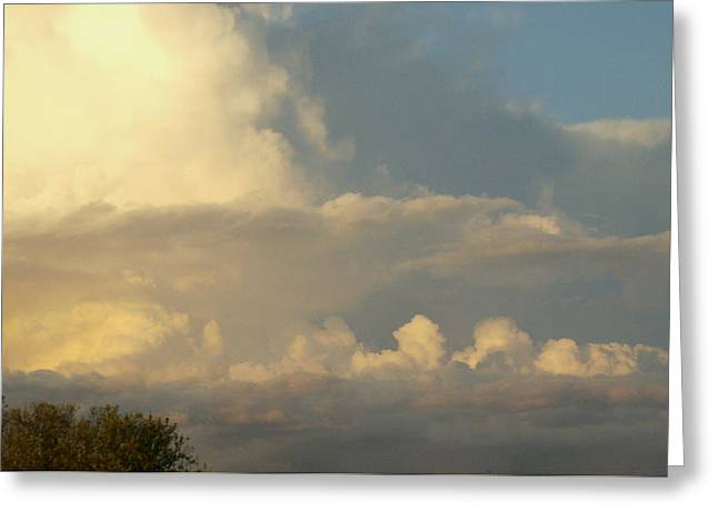 Cloudscape One Greeting Card by Caroline Czelatko
