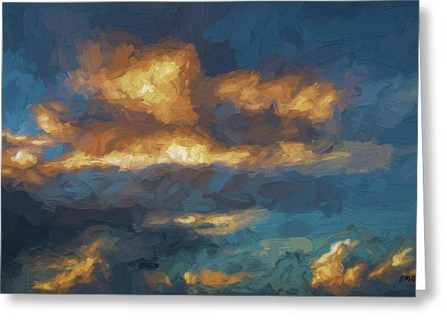 Cloudscape Xiii - Painterly Greeting Card by David Gordon
