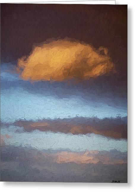 Cloudscape Xx - Painterly Greeting Card by David Gordon