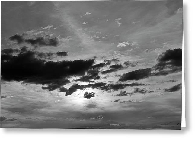 Cloudscape Xxi Bw Greeting Card by David Gordon