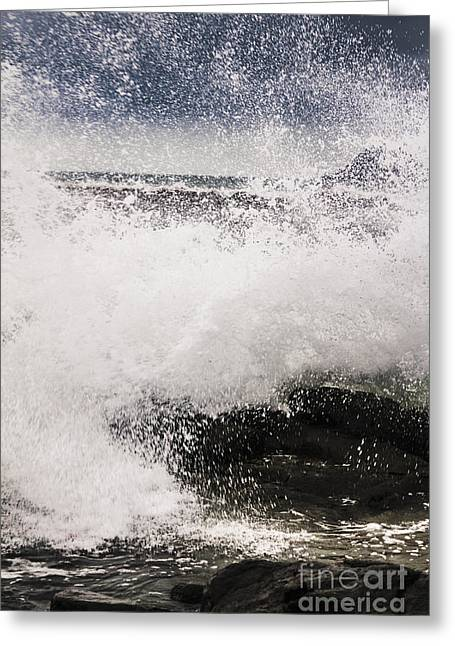 Cloudy Bay Storms And Turbulent Seas Greeting Card by Jorgo Photography - Wall Art Gallery