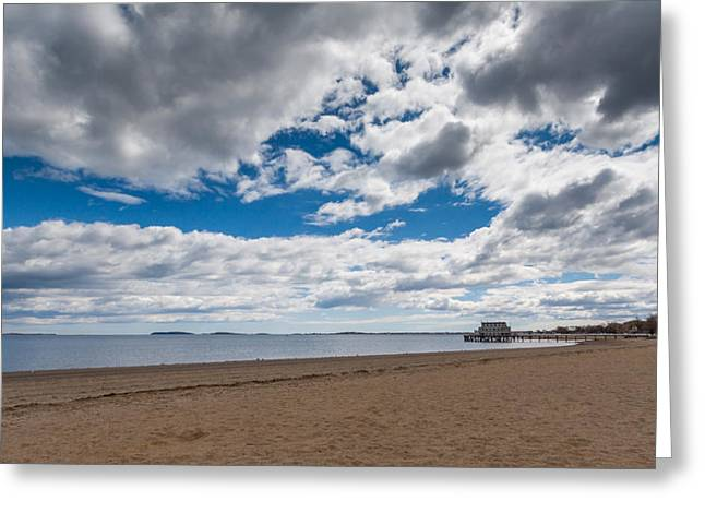 Cloudy Beach Day Greeting Card