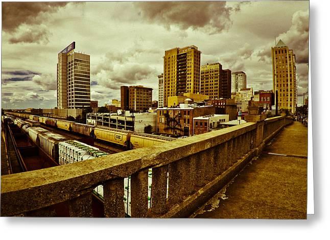 Cloudy Birmingham Greeting Card