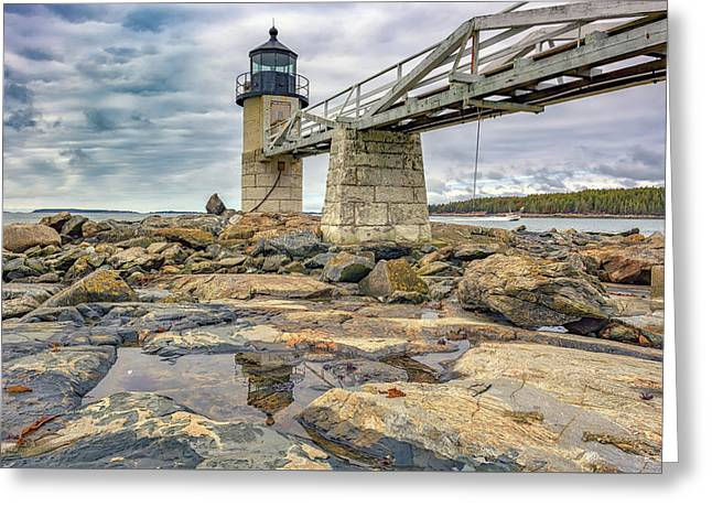 Cloudy Day At Marshall Point Greeting Card by Rick Berk