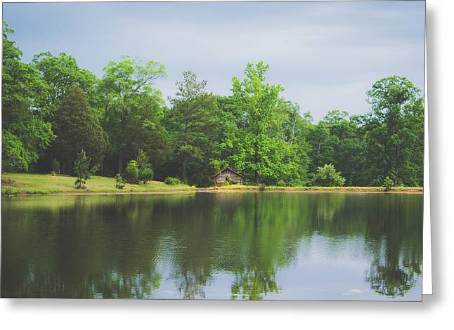 Cloudy Day By The Lake Greeting Card by Shelby Young
