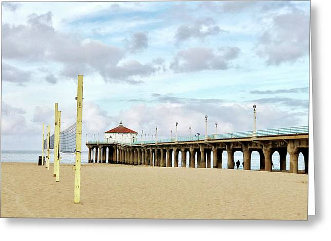 Cloudy Day In Manhattan Beach Greeting Card