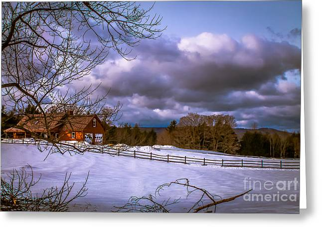 Cloudy Day In Vermont Greeting Card