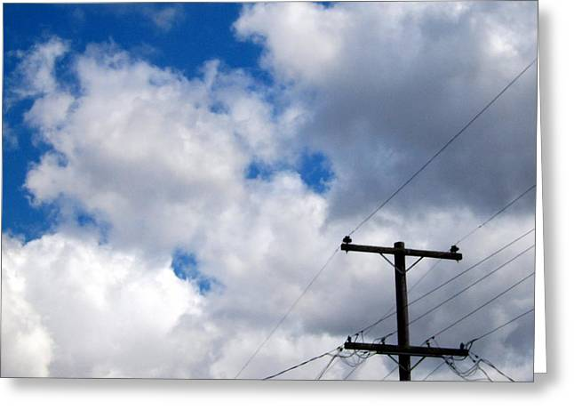 Cloudy Day Greeting Card by Patricia Strand