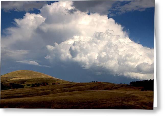 Cloudy  Day Greeting Card by Svetlana Peric