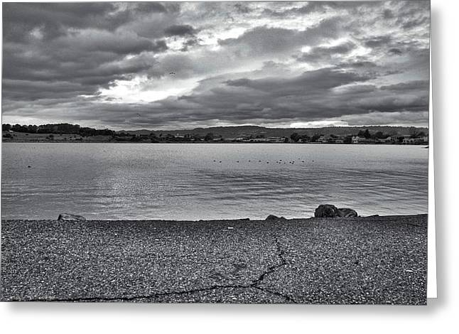 Greeting Card featuring the photograph Cloudy East Bay Hills From The Bay by Lennie Green