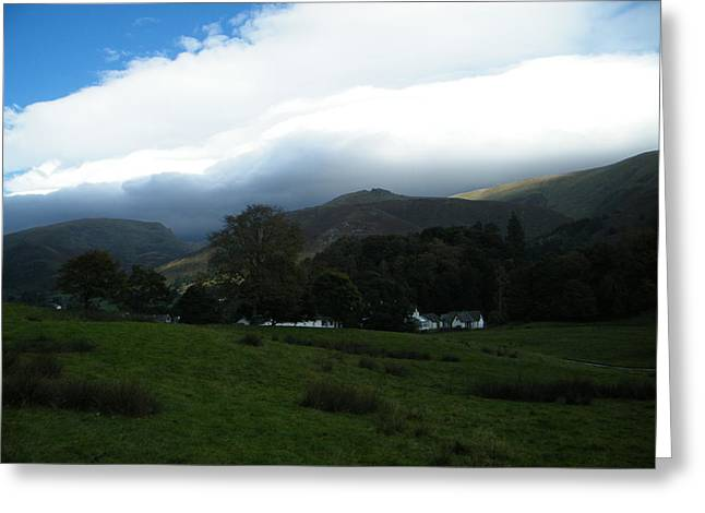 Cloudy Hills Greeting Card