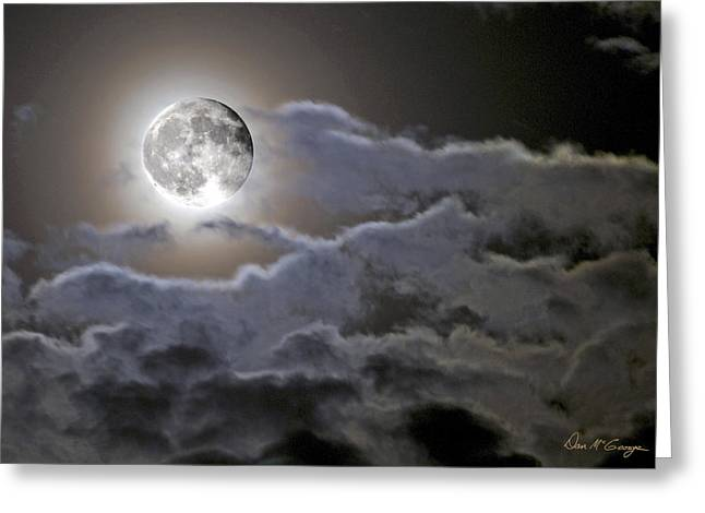 Cloudy Moon Greeting Card