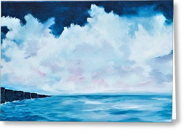 Cloudy Skies Over The Cliffs Of Moher Greeting Card