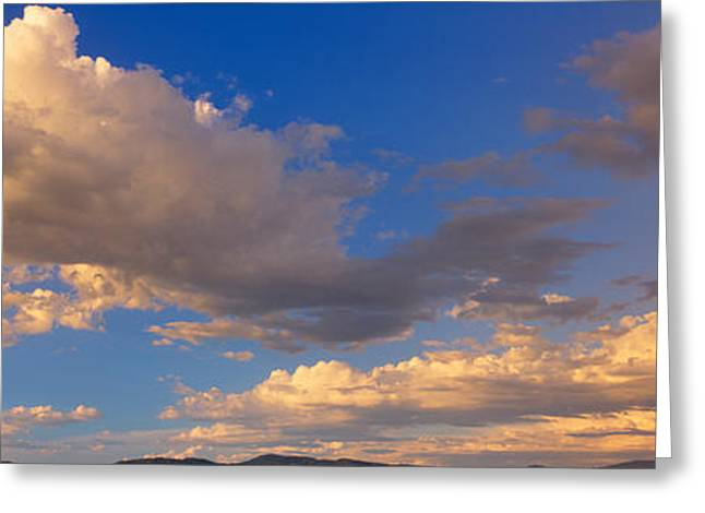 Cloudy Sky In Oregon Greeting Card by Panoramic Images