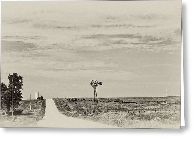 Cloudy Skys And Dirt Roads Greeting Card