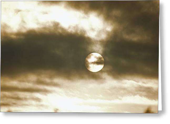 Cloudy Sun Greeting Card